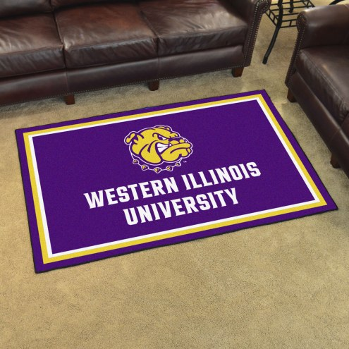 Western Illinois Leathernecks 4' x 6' Area Rug