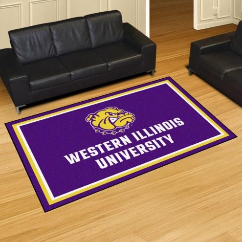 Western Illinois Leathernecks 5' x 8' Area Rug