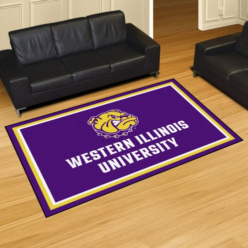 Western Illinois Leathernecks 5' x 8' Area Rug