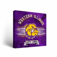 Western Illinois Leathernecks Banner Canvas Wall Art