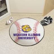 Western Illinois Leathernecks Baseball Rug