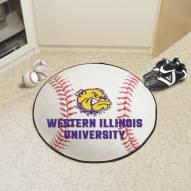 Western Illinois Leathernecks Baseball Rug