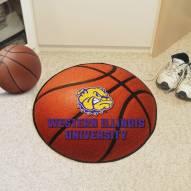 Western Illinois Leathernecks Basketball Mat