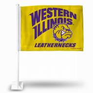 Western Illinois Leathernecks Car Flag