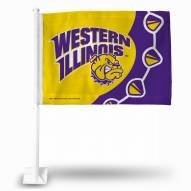 Western Illinois Leathernecks College Car Flag