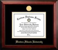 Western Illinois Leathernecks Gold Embossed Diploma Frame