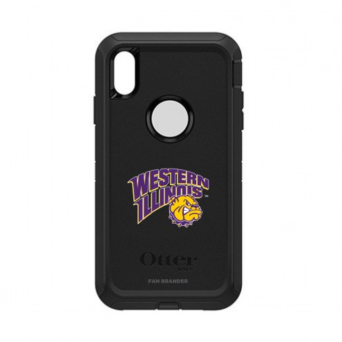 Western Illinois Leathernecks OtterBox iPhone XS Max Defender Black Case