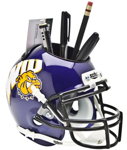 Western Illinois Leathernecks Schutt Football Helmet Desk Caddy