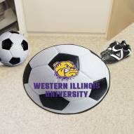 Western Illinois Leathernecks Soccer Ball Mat