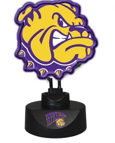 Western Illinois Leathernecks Team Logo Neon Lamp