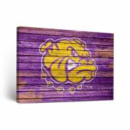 Western Illinois Leathernecks Weathered Canvas Wall Art