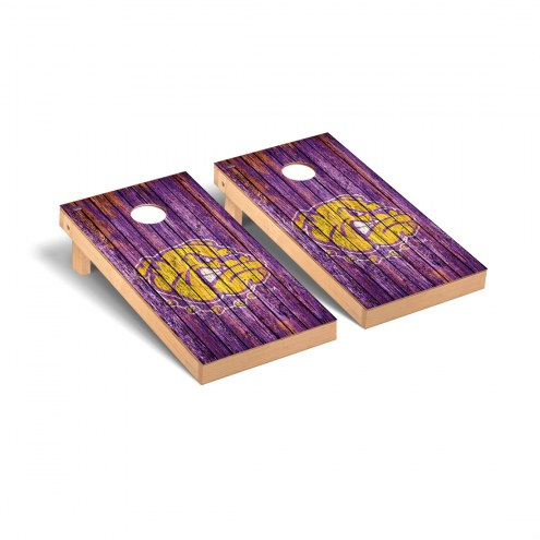 Western Illinois Leathernecks Weathered Cornhole Game Set