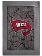"Western Kentucky Hilltoppers 11"" x 19"" City Map Framed Sign"