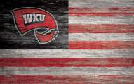 """Western Kentucky Hilltoppers 11"""" x 19"""" Distressed Flag Sign"""