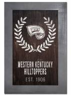 "Western Kentucky Hilltoppers 11"" x 19"" Laurel Wreath Framed Sign"