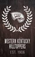 "Western Kentucky Hilltoppers 11"" x 19"" Laurel Wreath Sign"