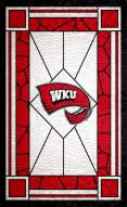 """Western Kentucky Hilltoppers 11"""" x 19"""" Stained Glass Sign"""
