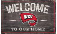 """Western Kentucky Hilltoppers 11"""" x 19"""" Welcome to Our Home Sign"""