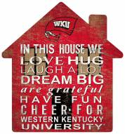 """Western Kentucky Hilltoppers 12"""" House Sign"""