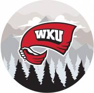 """Western Kentucky Hilltoppers 12"""" Landscape Circle Sign"""