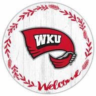 """Western Kentucky Hilltoppers 12"""" Welcome Circle Sign"""