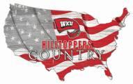 """Western Kentucky Hilltoppers 15"""" USA Flag Cutout Sign"""