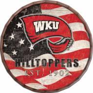 """Western Kentucky Hilltoppers 16"""" Flag Barrel Top"""