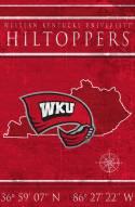 "Western Kentucky Hilltoppers 17"" x 26"" Coordinates Sign"