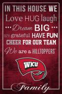 """Western Kentucky Hilltoppers 17"""" x 26"""" In This House Sign"""