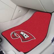 Western Kentucky Hilltoppers 2-Piece Carpet Car Mats