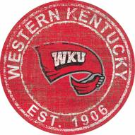 """Western Kentucky Hilltoppers 24"""" Heritage Logo Round Sign"""