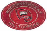 """Western Kentucky Hilltoppers 46"""" Heritage Logo Oval Sign"""