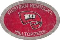 """Western Kentucky Hilltoppers 46"""" Team Color Oval Sign"""