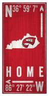 "Western Kentucky Hilltoppers 6"" x 12"" Coordinates Sign"