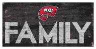 """Western Kentucky Hilltoppers 6"""" x 12"""" Family Sign"""