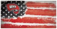 "Western Kentucky Hilltoppers 6"" x 12"" Flag Sign"