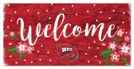"""Western Kentucky Hilltoppers 6"""" x 12"""" Floral Welcome Sign"""