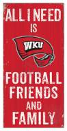 """Western Kentucky Hilltoppers 6"""" x 12"""" Friends & Family Sign"""