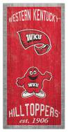 """Western Kentucky Hilltoppers 6"""" x 12"""" Heritage Sign"""