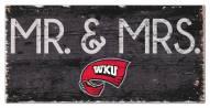 "Western Kentucky Hilltoppers 6"" x 12"" Mr. & Mrs. Sign"