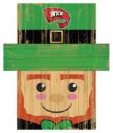 """Western Kentucky Hilltoppers 6"""" x 5"""" Leprechaun Head"""