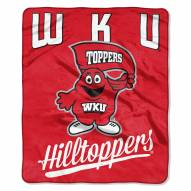 Western Kentucky Hilltoppers Alumni Raschel Throw Blanket