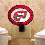 Western Kentucky Hilltoppers Art Glass Night Light