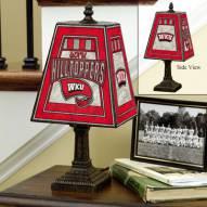 Western Kentucky Hilltoppers Art Glass Table Lamp