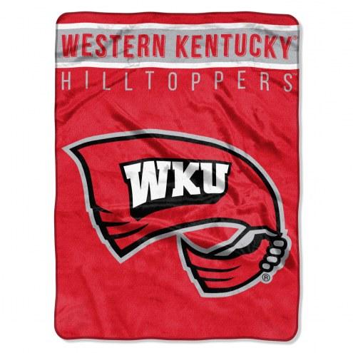 Western Kentucky Hilltoppers Basic Plush Raschel Blanket