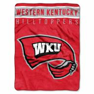 Western Kentucky Hilltoppers Basic Plush Raschel Blanket