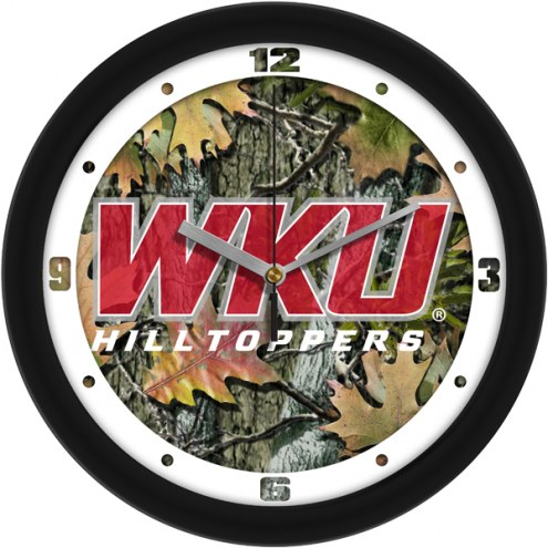 Western Kentucky Hilltoppers Camo Wall Clock