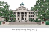 Western Kentucky Hilltoppers Campus Images Lithograph