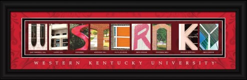 Western Kentucky Hilltoppers Campus Letter Art