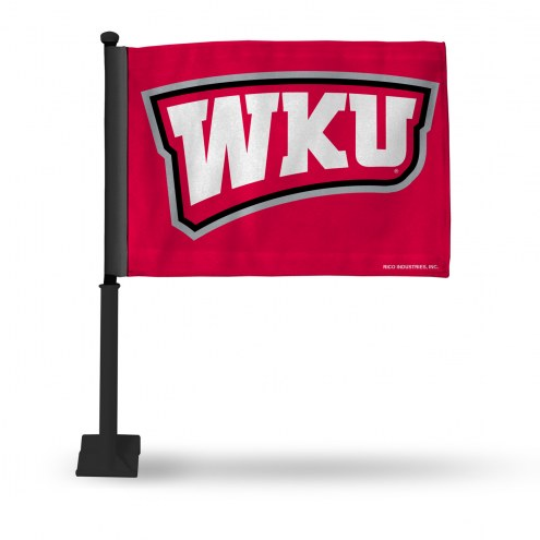 Western Kentucky Hilltoppers Car Flag with Black Pole